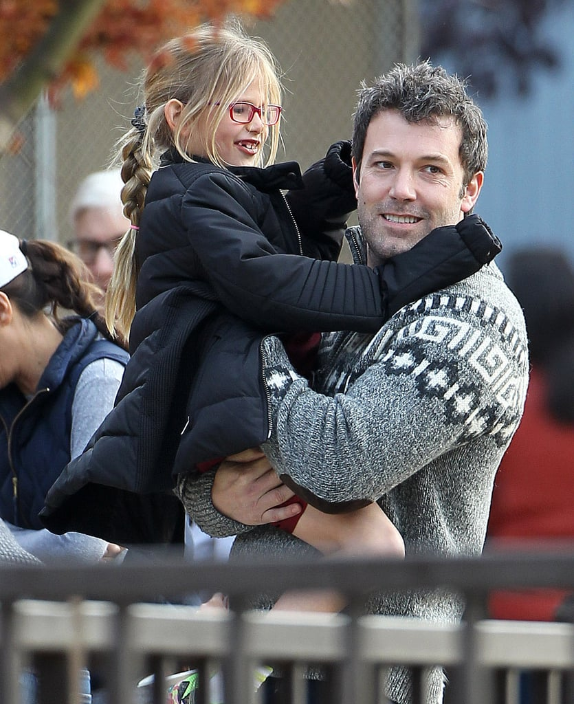 Ben Affleck had a playful Sunday in LA with his daughter Violet.