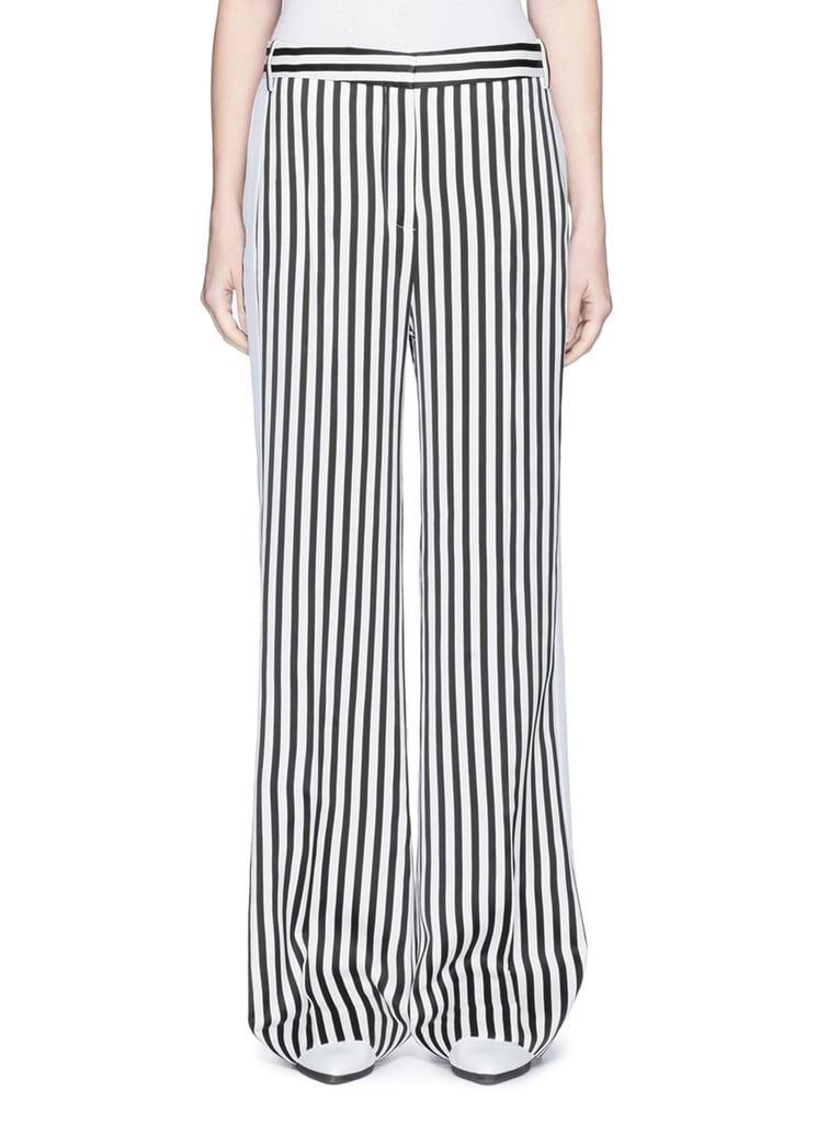 Victoria Victoria Beckham Stripe Wide Leg Tuxedo Pants
