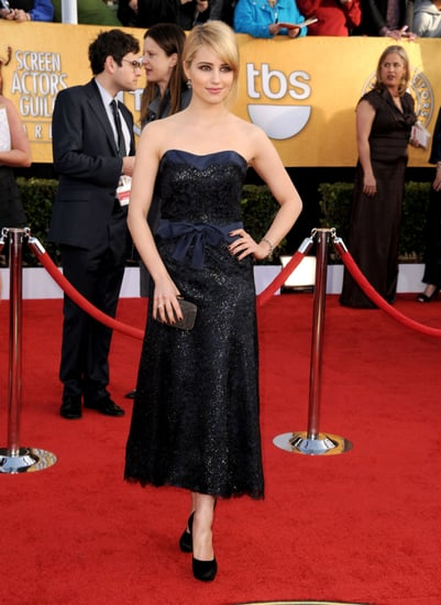 Pictures of Glee Star Dianna Agron at the 2011 Screen Actors Guild Awards