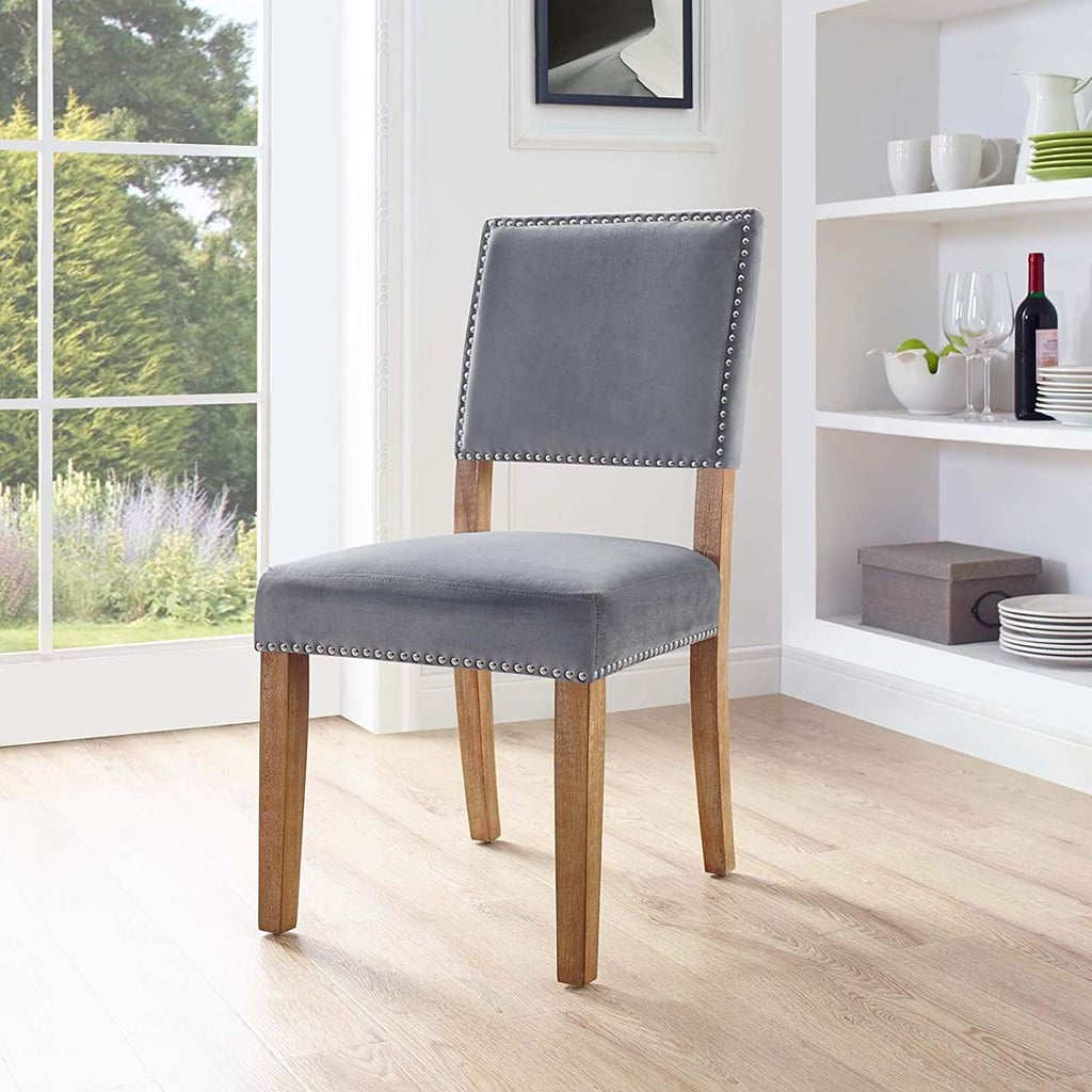 Modern Farmhouse Velvet Upholstered Dining Chair