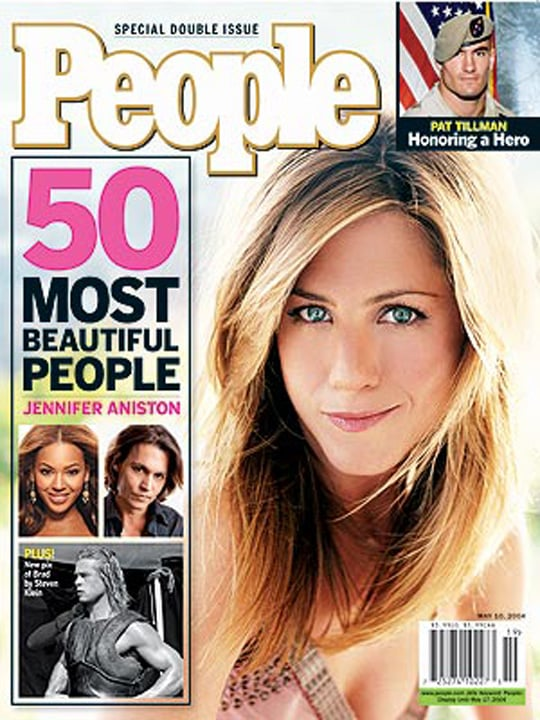 Jennifer Aniston topped <b>People</b>'s Most Beautiful list.
