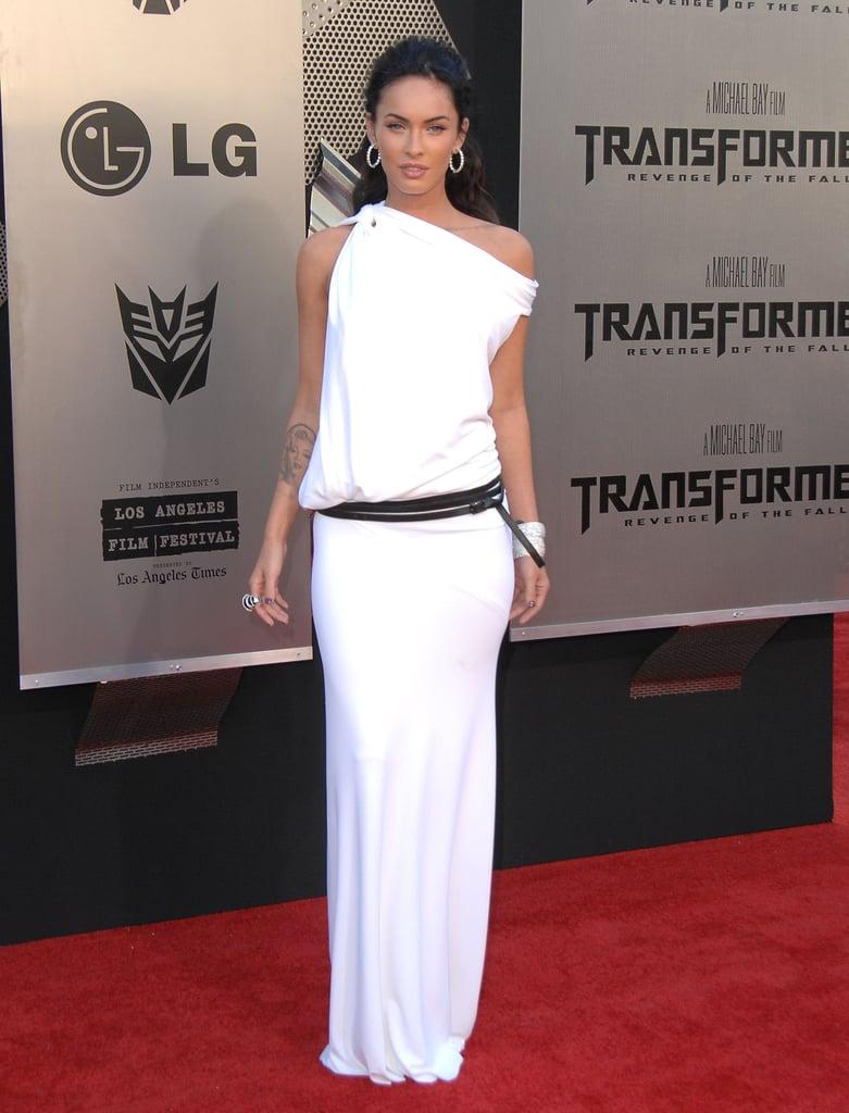 Megan Fox in White KaufmanFranco at the 2009 Transformers: Revenge of the Fallen LA Premiere