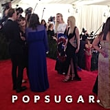 The Fanning sisters, Elle and Dakota, arrived with the sisters behind the Rodarte line, Laura and Kate Mulleavy.