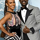 Ryan Michelle Bathe and Sterling K. Brown at the 2020 SAG Awards