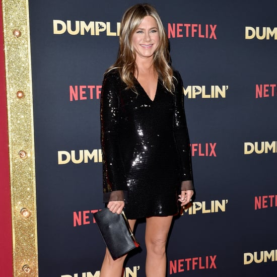Jennifer Aniston Stella McCartney Sequin Dress December 2018