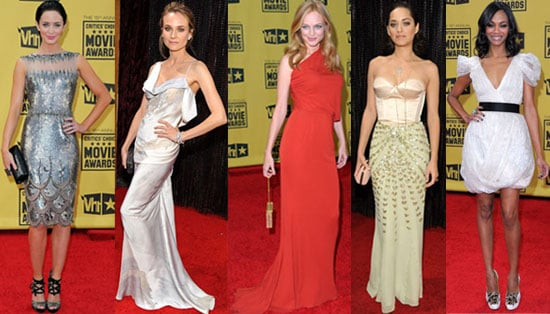 Photos of Diane Kruger, Zoe Saldana, Marion Cotillard, and Emily Blunt at 2010 Critics' Choice Awards