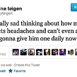 Chrissy Teigen, could you be more thoughtful?