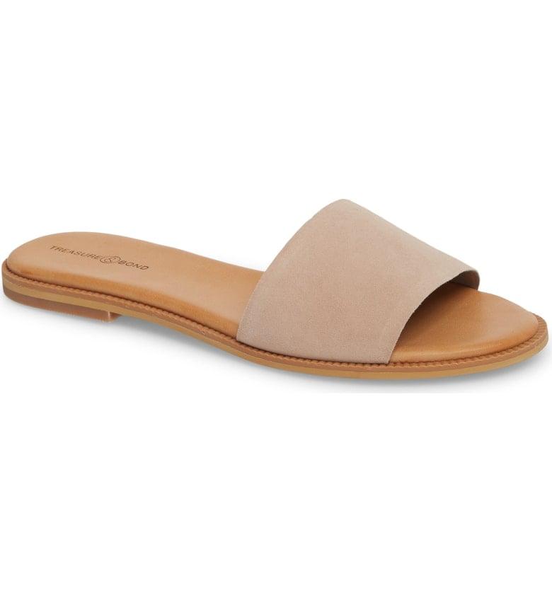 Treasure & Bond Mere Flat Slide Sandals | Best Neutral