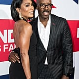 Angela struck a pose with her man at the premiere of London Has Fallen in March 2016.