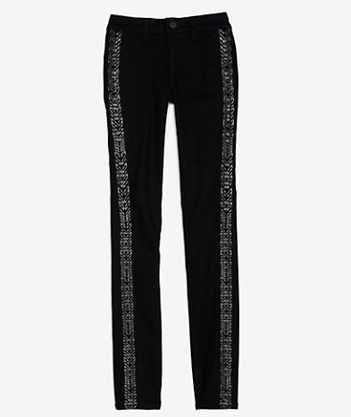 New season, new jeans. These Rag & Bone Gunmetal Skinny Jeans ($288) are a pretty cool take on the tuxedo stripe. The embroidery has a more bohemian feel and I love the idea of wearing these to update my jeans-oversized sweater uniform all Fall. — Noria Morales, style director