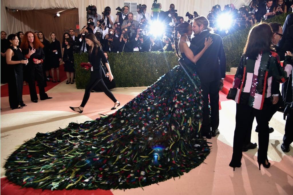 Zoe Saldana's Dolce and Gabbana Dress at Met Gala 2016