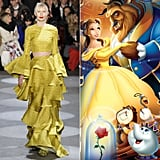 Belle Wearing Christian Siriano