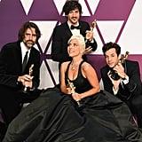 Pictured: Andrew Wyatt, Anthony Rossomando, Mark Ronson, and Lady Gaga