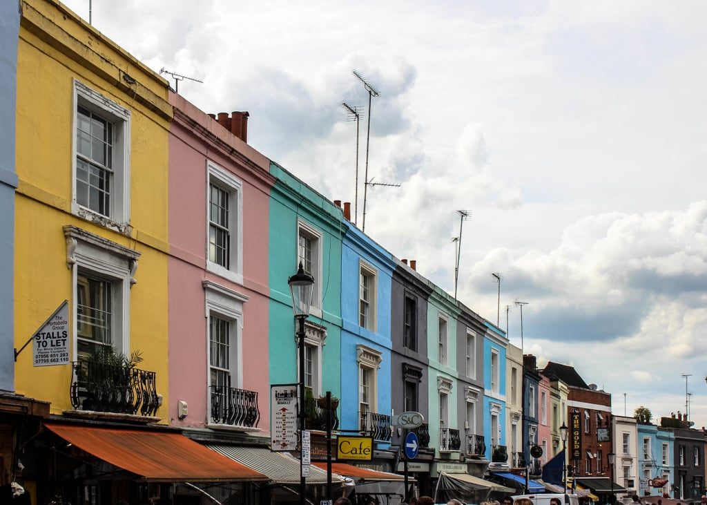 In fact, visitors from all across the world flock to this pastel portion of Portobello Road to uncover unique finds. And although this mile-long market is open seven days a week, if you're yearning to witness the exciting chaos in full swing, make sure to visit on a Saturday, as this is when the main festivities take place.