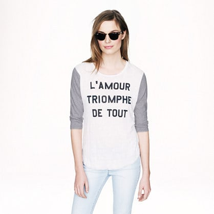 J. Crew L'Amour Triomphe Tee