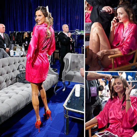 Miranda Kerr and Adriana Lima Backstage VS Pictures