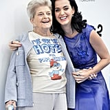 Katy Perry attended the premiere with her grandmother, Ann Hudson.