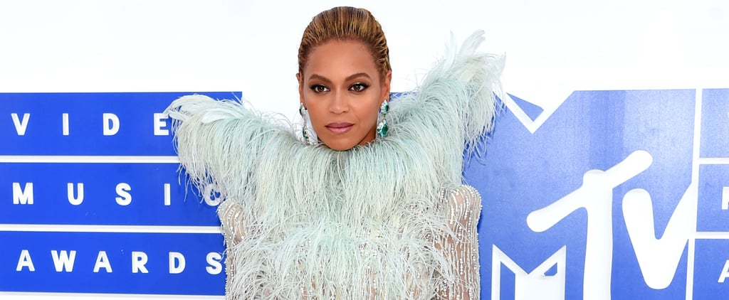 Beyoncé Descended on the VMAs Red Carpet the Only Way She Knows How — Like an Angel