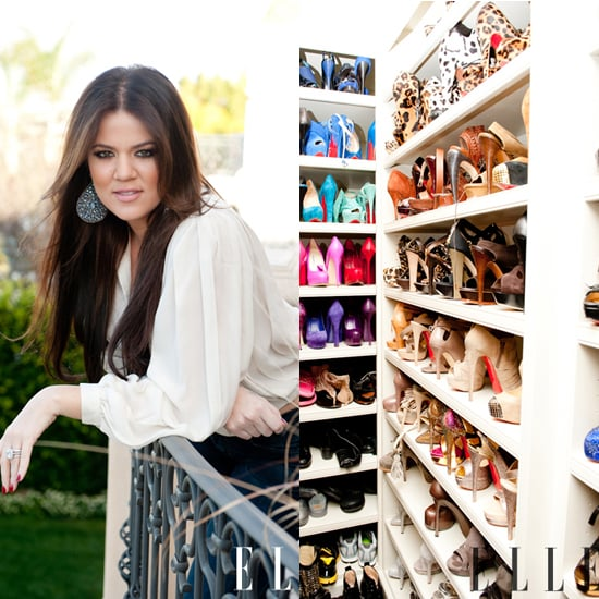 Khloe Kardashian Shows Off Her Shoe Collection to Elle Magazine and The Coveteur