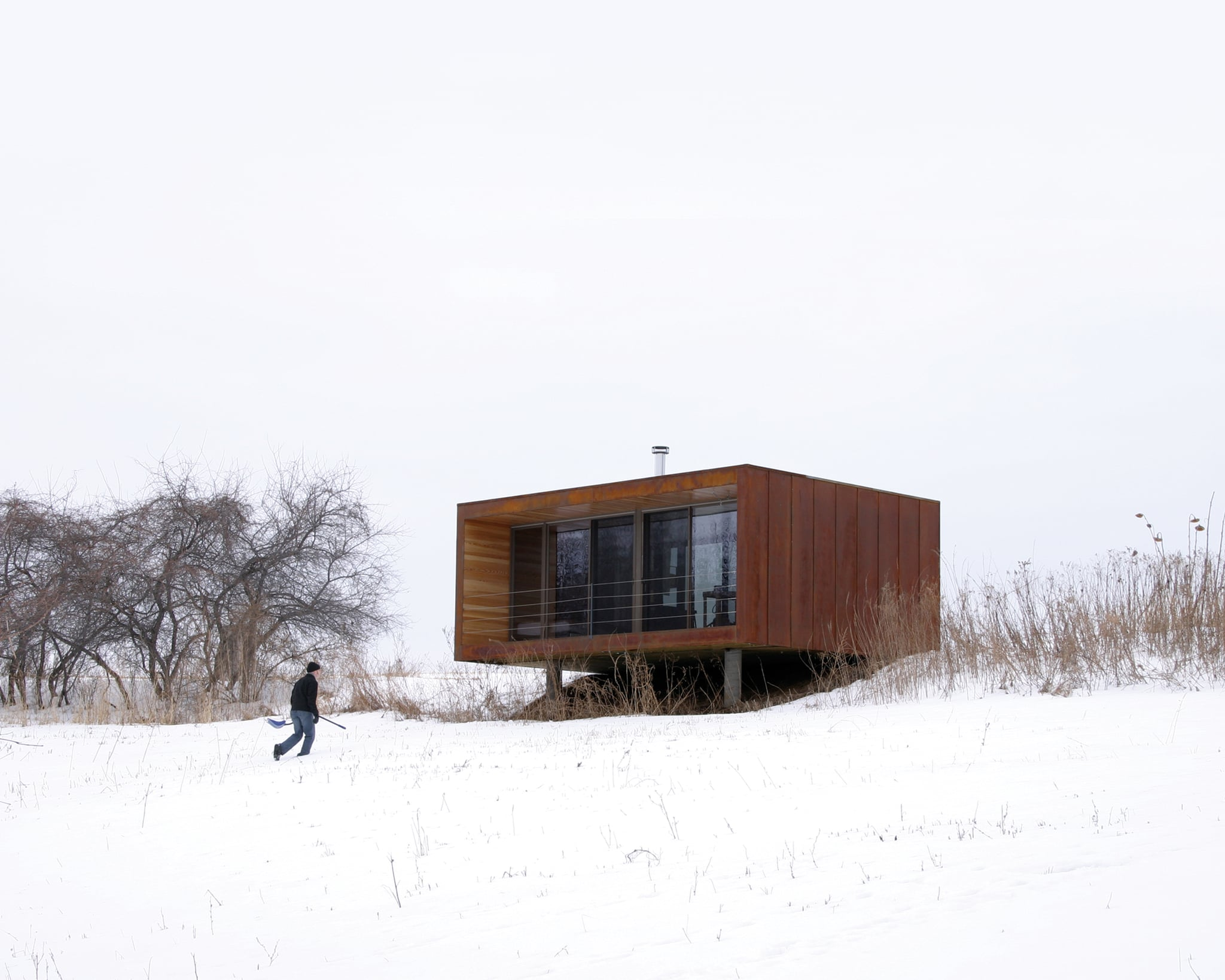 Noted as the iconic weehouse the arado home cost only for Cost to build a house in wisconsin