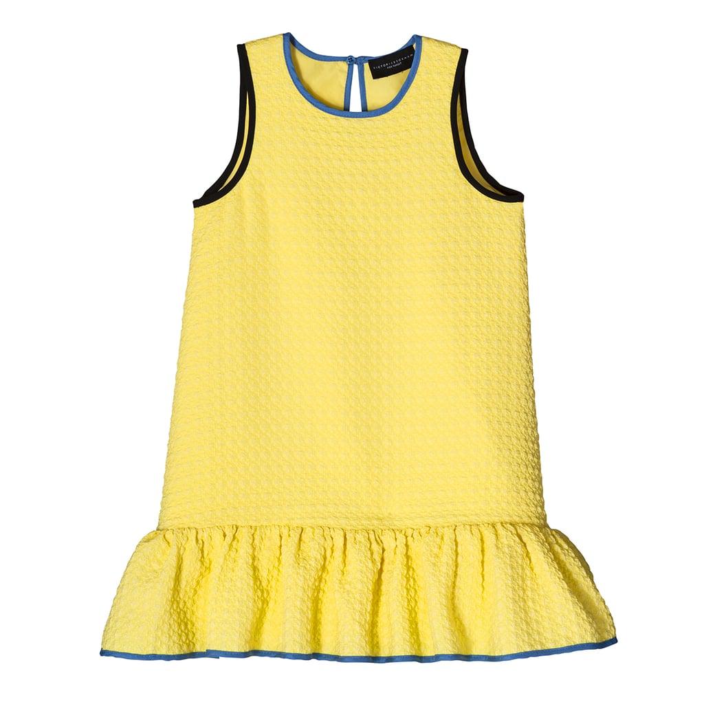 Toddler Girls' Yellow Cloque Ruffle Dress  ($23)