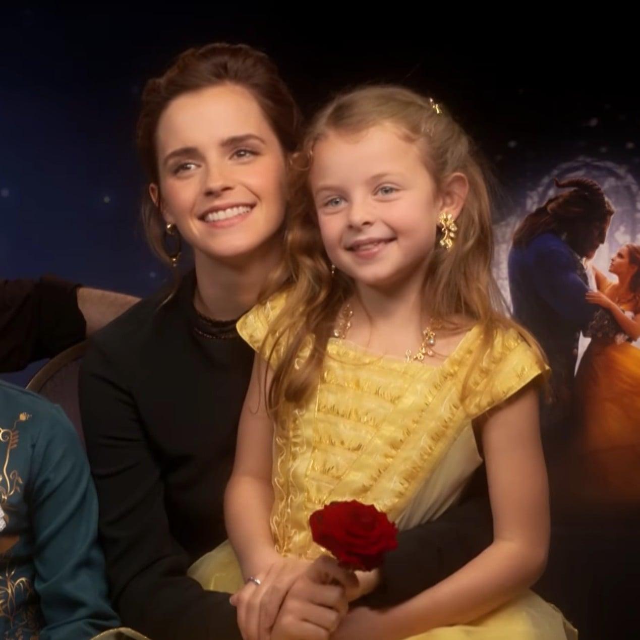 Emma Watson Dan Stevens Interview With Mini Belle And Beast