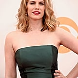 Anna Chlumsky must own a Beachwaver to get those perfect waves, and her lip was a bold pop of color in hot pink.