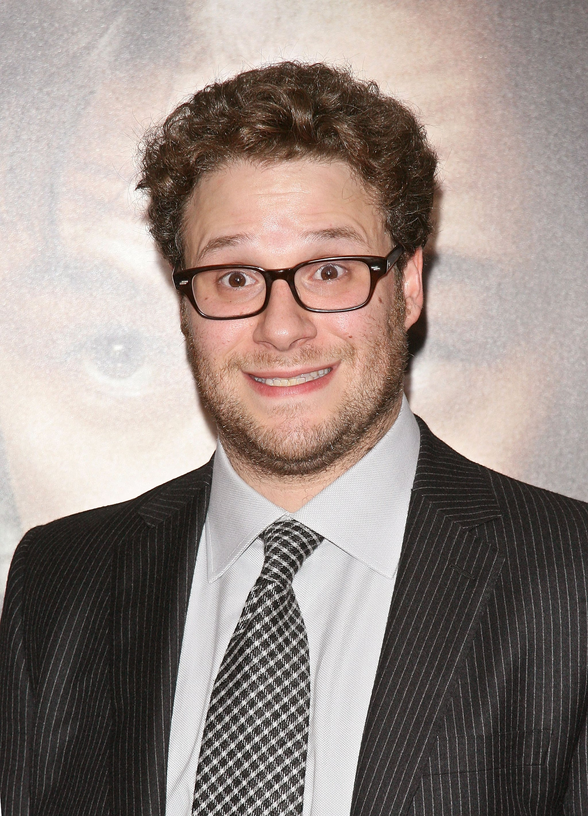 Seth Rogen made funny faces on the red carpet at the 50/50 premiere in NYC.