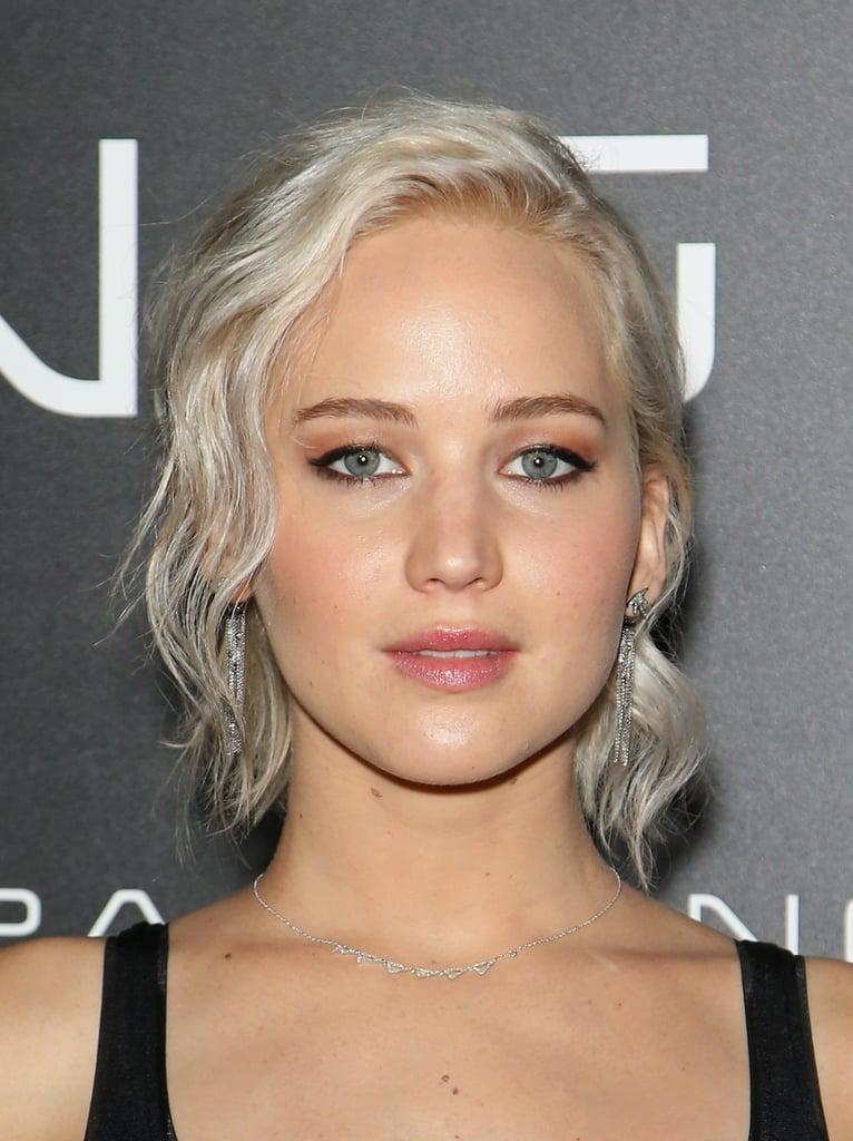 Jennifer Lawrence With Platinum Blond Hair | Spring 2016