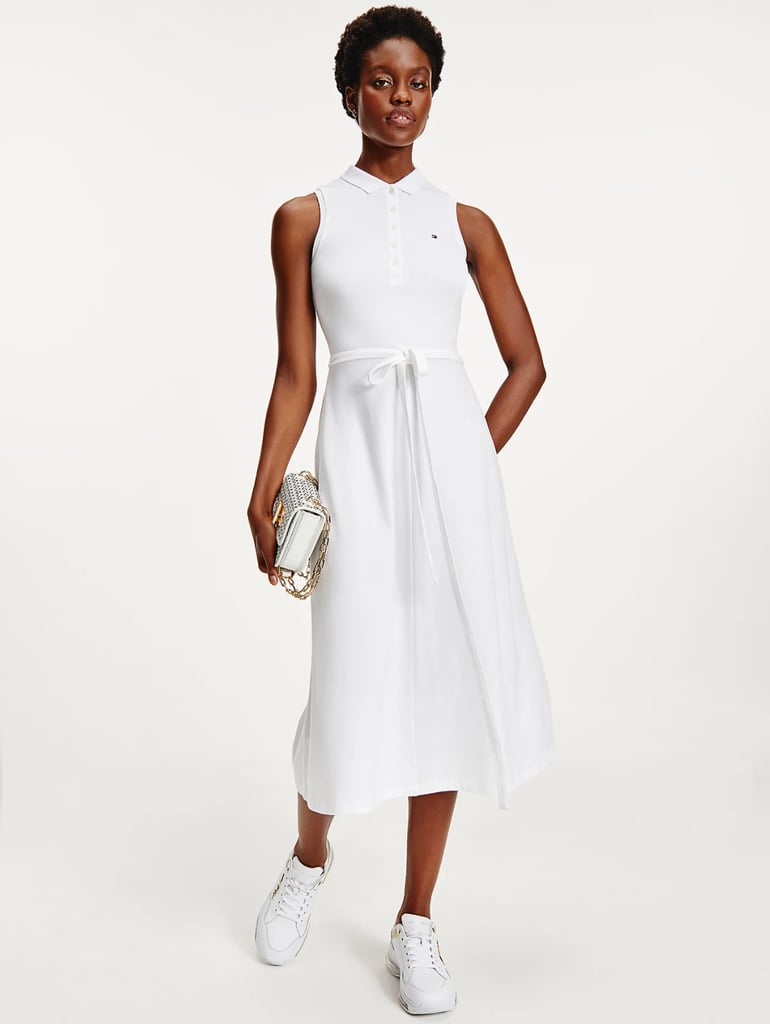 Tommy Hilfiger Fit and Flare Sleeveless Polo Dress