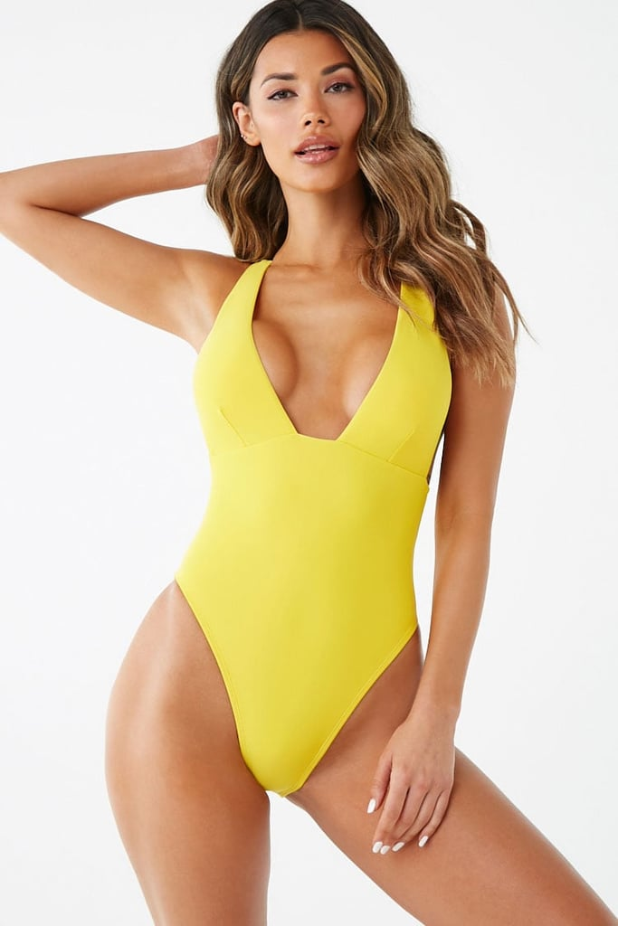 4f71c42c575cd Plunging One-Piece Swimsuit | Cheap Forever 21 Swimsuits 2019 ...