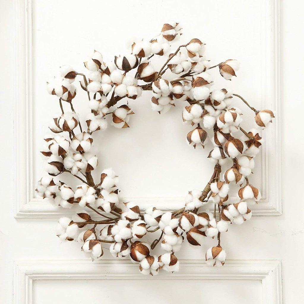 Cotton Farmhouse Christmas Wreath