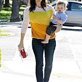 Jennifer Garner carried Samuel Affleck in LA.