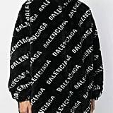 Balenciaga black and white logo jacket