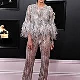 Ashlee Simpson Georges Chakra Jumpsuit 2019 Grammys