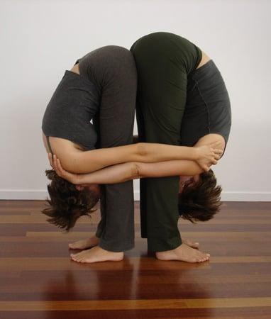 slideshow of partner yoga poses  popsugar fitness