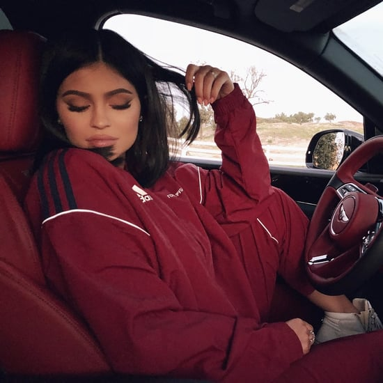 Kylie Jenner's Red Adidas Track Pants