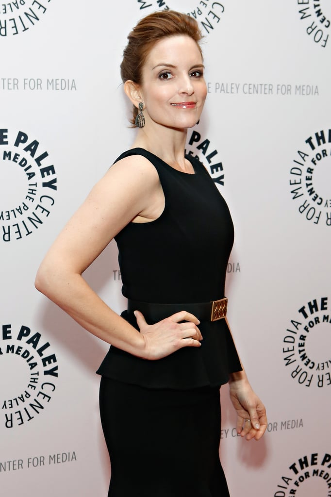 Tina Fey posed on the red carpet for her 30 Rock event in NYC.