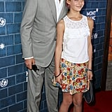 Danny Huston posed with his daughter.