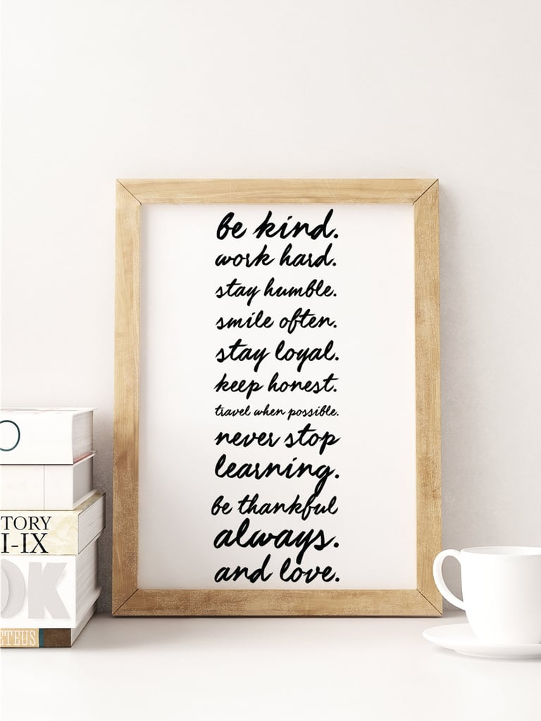 Be Kind Typography Print