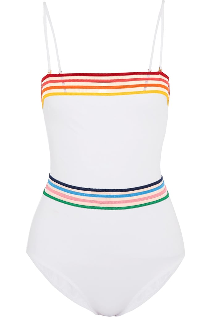 A Rainbow One-Piece Swimsuit