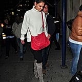 In Love With . . . Katie Holmes's Bright Red Bag