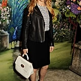 Brit Marling showed her support at the Mulberry show.