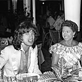 After announcing her separation from her husband earlier in the year, Princess Margaret hung with Mick Jagger in Pointe-du-Bout, French West Indies, in 1976.