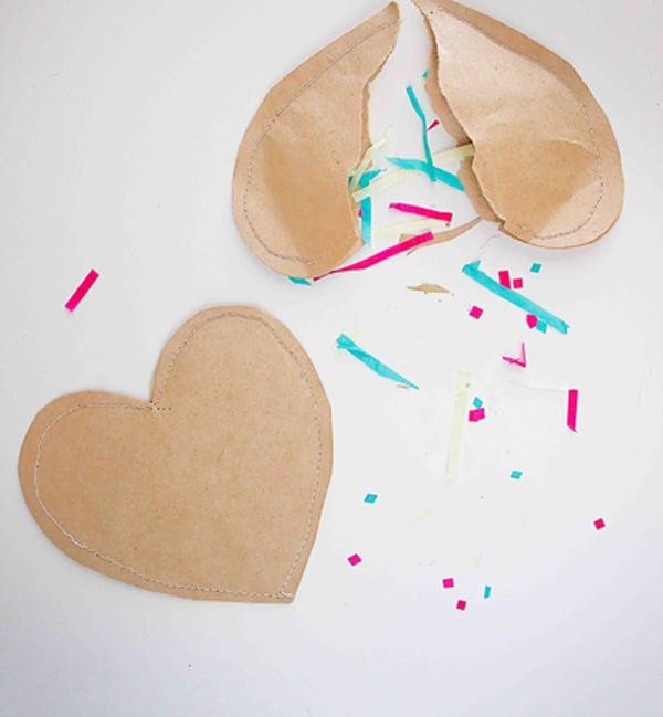Confetti Paper Hearts