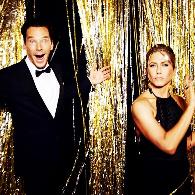 Benedict Cumberbatch and Jennifer Aniston's backstage snap was as ridiculous as their time on stage.