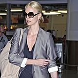 Pictures of Charlize Theron at Heathrow