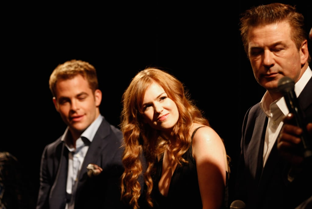 Chris Pine, Isla Fisher, and Alec Baldwin chatted with the audience about lending their voices to the project.