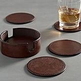 Saddle Leather Drink Coasters