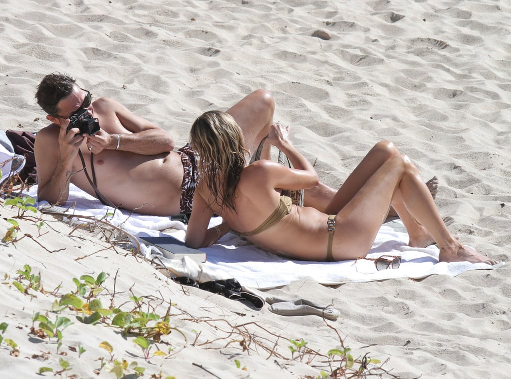 Jamie snapped sweet photos of Kate while they relaxed on the beach in St. Barts during a December 2012 trip.